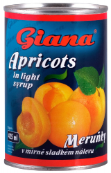 Meruňky 425 ml GIANA  |