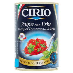 CIRIO Rajčata s bylinkami kr.400 g  |