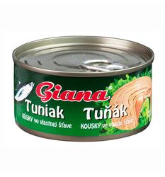 Tuňák kousky ve vl.sťávě 185g GIANA  |