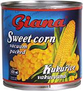 Giana Kukuřice vakuovaná 425 ml  |