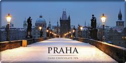 Praha Karlův most zima obdel.80 g 1  |
