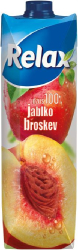 Relax Jablko-broskev 100% 1 l  |